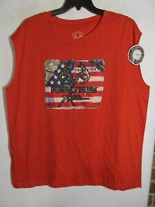 Realtree men size XL Red T-shirt sleeveless NWT Lot#18