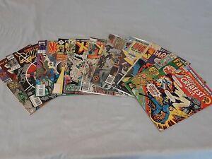 Lot of 11 Marvel Comics Bronze through Modern Age X-Men Fantastic Four Daredevil