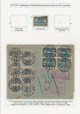 Estonia. 1920-21. Album page older stamps and cover - 2 SCANS