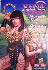 XENA - TOPPS COMIC BOOK 1st BOLD ISSUE POSTER - SIGNED BY CONNOR & PALMIOTTI
