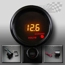 "UNIVERSALE LED Volt Gauge Interni Pannello Dash Fit 2"" 52 mm"