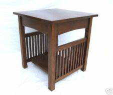 MISSION ARTS & CRAFTS LARGE SPINDLE TABLE WITH SHELF FREE SHIPPING
