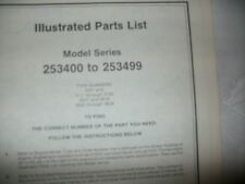 briggs stratton 253400 to 253499 illustrated parts list,briggs & statton engine