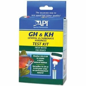 API GH & KH HARDNESS TEST KIT GENERAL & CARDONATE HARDNESS FRESHWATER. FREE SHIP