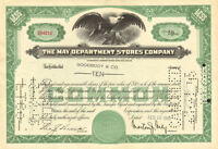 MAY DEPARTMENT STORES stock certificate > now Macy's