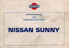 Nissan Sunny manual de instrucciones 1986 manual de instrucciones b12 manual a bordo libro ba