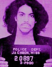 Prince Rogers Nelson mugshot - Purple Rain (Paisley Park) - glossy A4 print