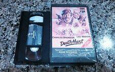 DEATH HUNT RARE VHS TAPE! 1981 Thriller Adventure! CHARLES BRONSON! Death Wish