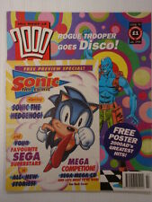 2000AD BEST OF MONTHLY # 94 JUDGE DREDD COMIC WITH SONIC FREE PREVIEW