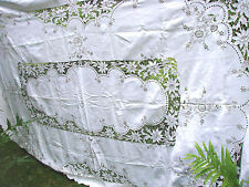 Vintage Tablecloth  Embroidered Cut Work 69x103 Madeira linen