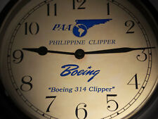 Boeing 314, Pan Am Philippine Clipper Flying Boat, Vintage 1930's Clock, Replica