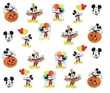 Nail Art Decals Transfers Stickers Mickey Mouse Pumpkin Balloons (A-371)