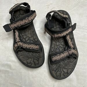 TEVA MENS SANDALS F3005L BROWN BLACK OUTDOOR SPORTS WATER~SIZE 11 Straps