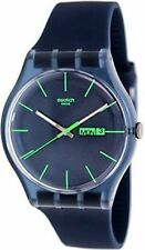 Swatch Blue Rebel Analogue Quartz SUON700 Gents Watch