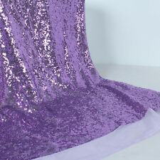 """Glitz Embroidery Sequin Fabric Wedding Party Events Decoration 50"""" wide by Yard"""