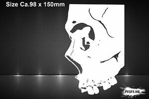 Airbrush Schablone Totenkopf Seitenansicht Gothic miniA5 Skull Sideview Stencil