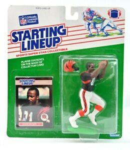 NEW NOS 1989 Eddie Brown Cincinnati Bengals Kenner NFL Starting Lineup SLU C