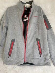 Avalanche Women Gray Heather Thermal Fleece Full Zip Outdoor Jacket SZ L New!