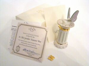 LENOX Porcelain Hinged Box  - In The Garden with Charm and Certificate and Box