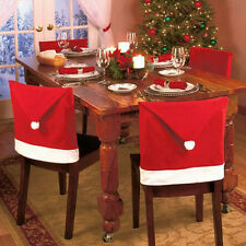 1pc Christmas Seat Cover Chair Santa Claus Hat Cover Dinner Christmas Decoration