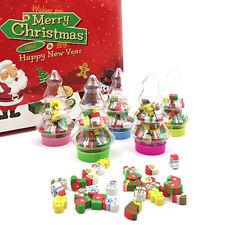 25x Christmas Rubber Pencil Eraser Children Stationery School Supplies Kids Gift
