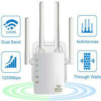 WiFi Extender Signal Range Booster Wireless 1200Mbps Dual Band Network Repeater