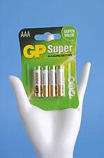 GP Super Battterie Alkaline Battery AAA Micro LR 03 Power Batterien 4er Pack b31