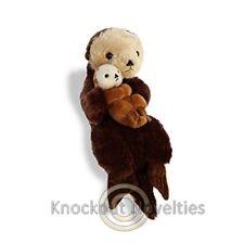 "16"" Destination Nation - Mama Baby Sea Otter Toy Cuddle Stuffed Animal Play"