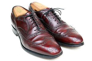 Allen Edmonds McAllister Burgundy Oxblood Wingtip 6275 Dress Shoe Men's 8D