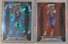 2017-18 Prizm Thomas Bryant Blue Cracked Ice Rookie + Red RC Wizards