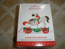 2015 Nib! Hallmark Christmas Ornament, #18 In Series, A Pony For Christmas~T9795