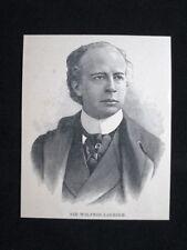 Sir Wilfrid Laurier, politico canadese, nel 1902 Stampa del 1902