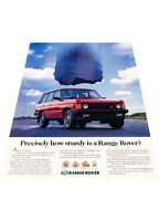 1991 1992 Range Rover - falling rock - Vintage Advertisement Car Print Ad J402