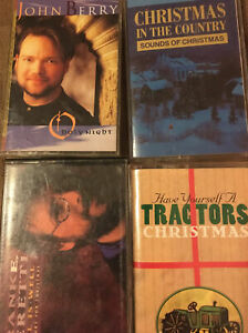 4 Vintage Country Christmas Cassettes Christmas In The Country, Frank Peretti