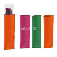 Practical 5x Neoprene Holder Icy Pole/Ice Lolly/Freezer Pop Sleeve Protector AU
