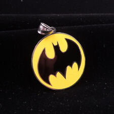 Batman charm Pendant ball necklace stainless steel chain