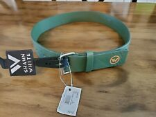 Brand new Shawn White Faux Leather Belt, Kelly Green w/Logo, Youth medium 25""