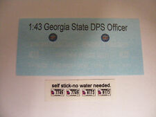Georgia State DPS Officer MCCD 1/43 Water slide Decal set 1:43 scale