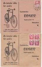 # 1963/4 2 x GREENLAND BICYCLE ADVERTISING COVERS JULIANEHAB & UMANAK POSTMARKS