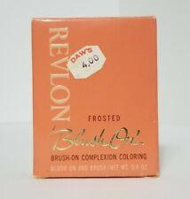 Vintage Revlon Discontinued Compact Blush On Transparent Frosty Peach NOS