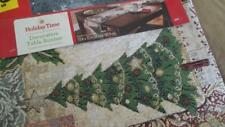 """Christmas Tapestry  Table Runner 13"""" x 72""""  Trees~Holly~more Christmas Holiday"""