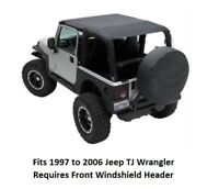 Jeep Extended Bikini Top for 97-06 Jeep TJ Wrangler - Cover Front and Rear Seats