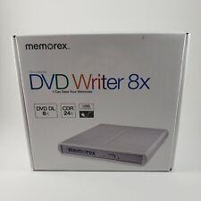 Memorex Slim External DVD Writer 8x Multi-Format USB 2.0 New in Plastic