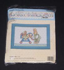 Rocking Horse Bunny Cross Stitch Kit with Frame, Daisy Kingdom, Bucilla