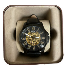 Fossil ME3094 Grant Black Skeleton Dial Automatic Men's Watch