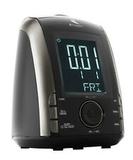 RADIO RELOJ DESPERTADOR DIGITAL SYTECH SY1032- DOBLE ALARMA- COLOR NEGRO