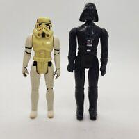 Vintage 1977 Star Wars DARTH VADER and Stormtrooper Action Figure Original 12