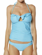 "NEW + TAG BILLABONG LADIES (10) ""SKYLINE"" TANKINI TWO PIECE SET SWIMSUIT AZURE"