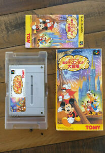 COMPLETE - Mickey Mouse Tokyo Disneyland Adventure Super Famicom JAPAN SFC SNES