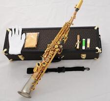 Prof Matt Rose Brass Soprano Saxello saxophone Curved cupronickel Bell High F#G